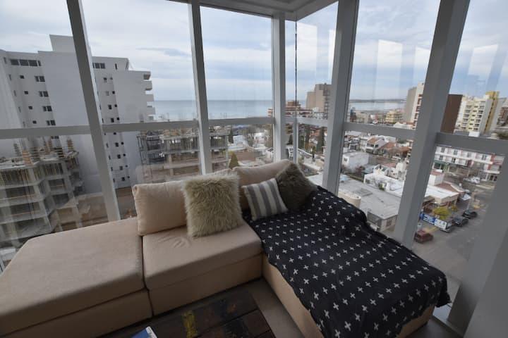 Apartamento NUEVO con vista al mar en PLENO centro