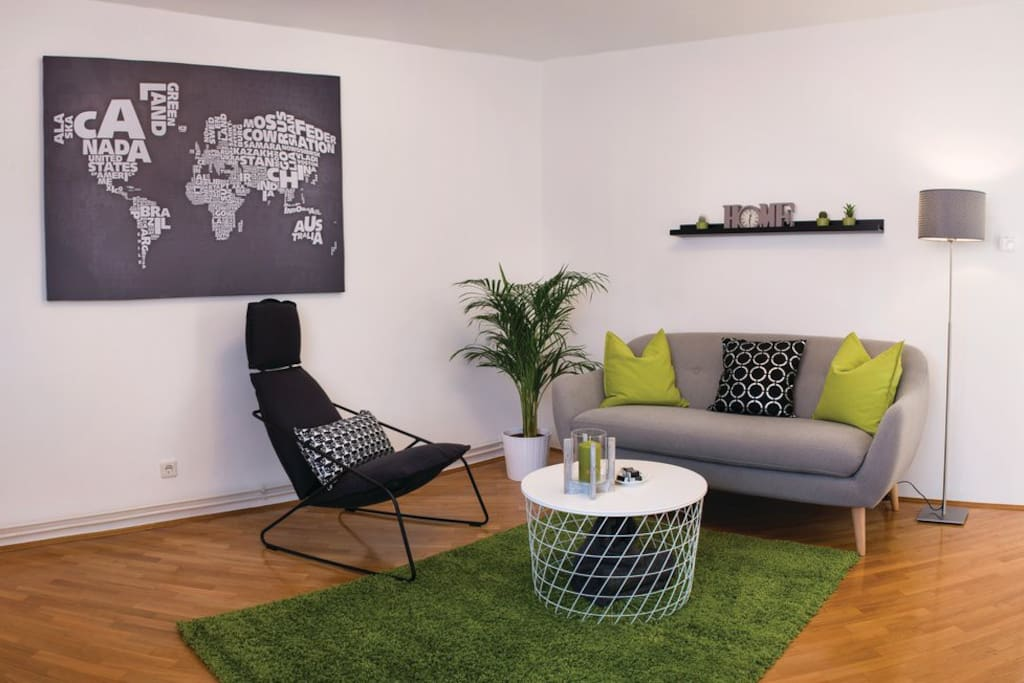 Living room with relax area