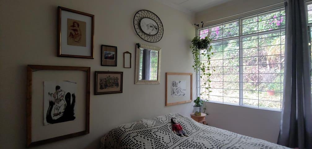Spacious room in beautiful apartment.