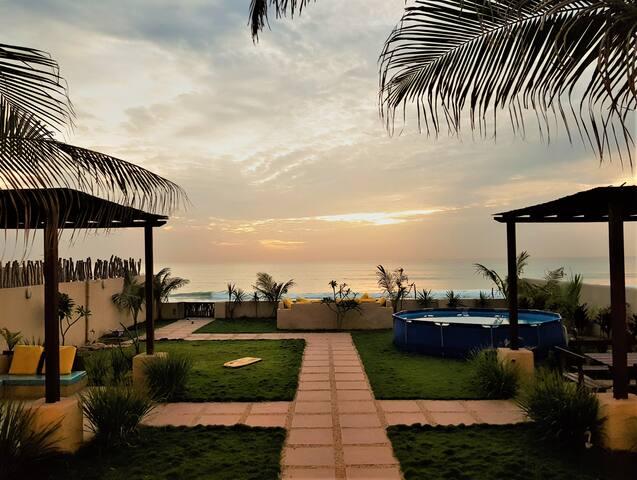 Fantastique villa sur la plage et pieds dans l'eau