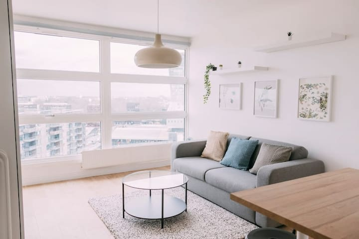 Bright studio with open view over Lille