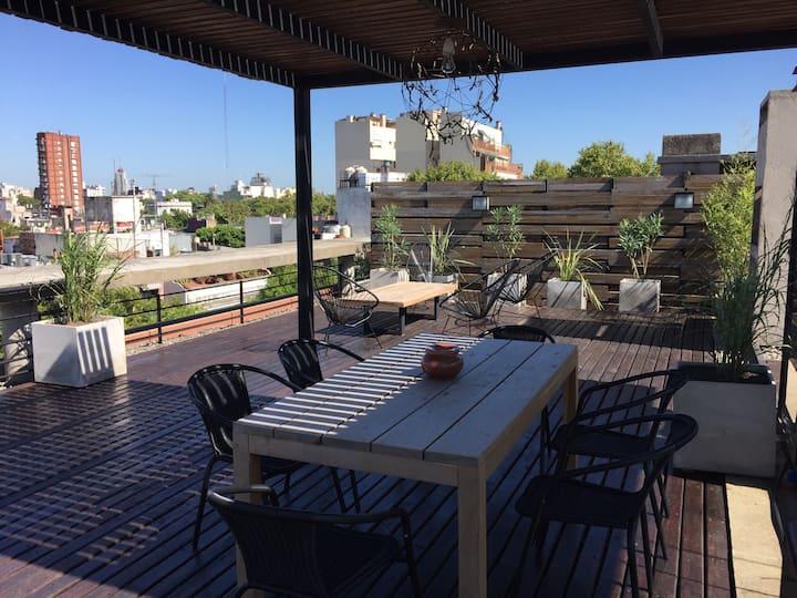 Impressive Loft : private terrace, BBQ, and Pool