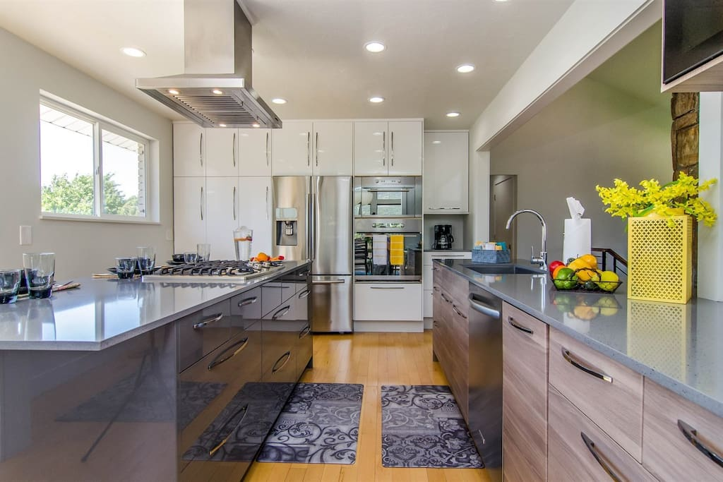 Kitchen with upgraded stainless steel appliances