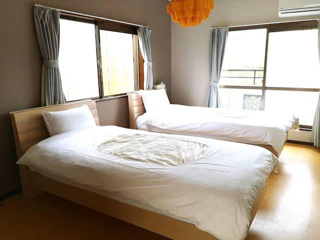 政府官方住宿设施!祇園,清水,從三十三間堂近,漂亮寬廣的房間。9人可能!