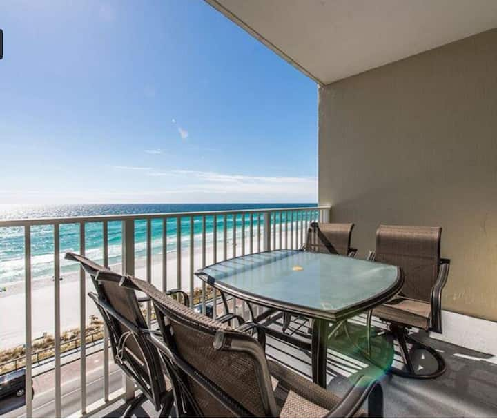 Oceanfront condo steps from the sand! Sleeps 6!