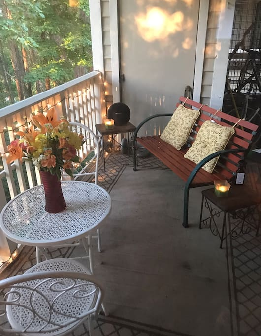 Have coffee on the back deck or just sit and collect your thoughts.