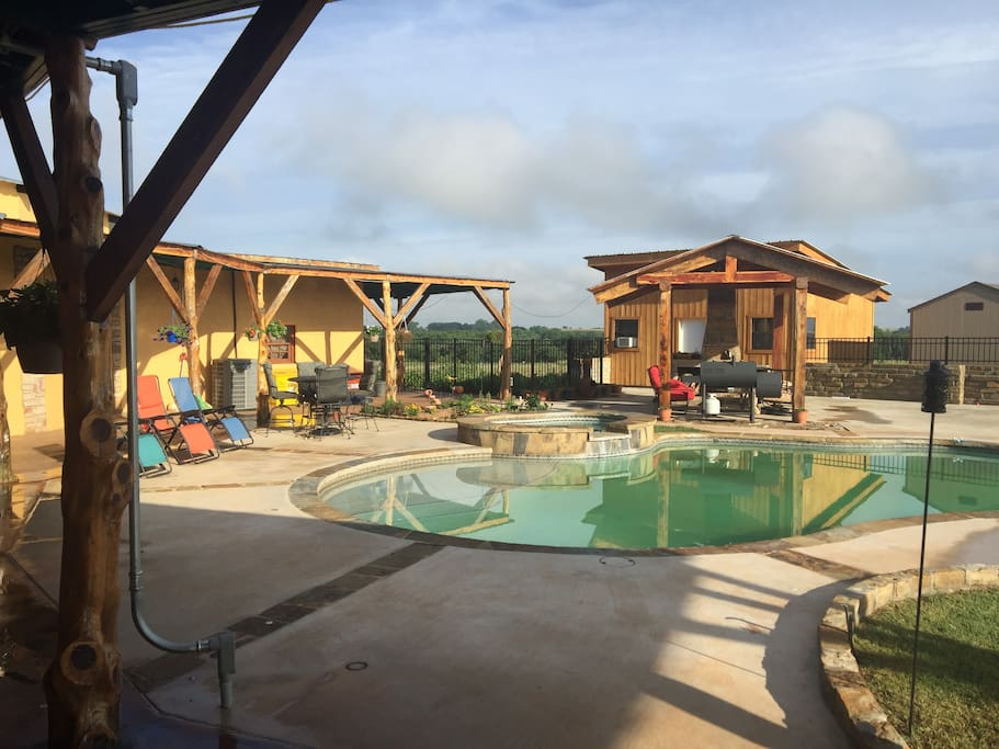 The pool and cabana