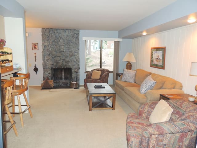 Bright and cozy one bedroom unit perfect for a Mammoth vacation getaway! #187