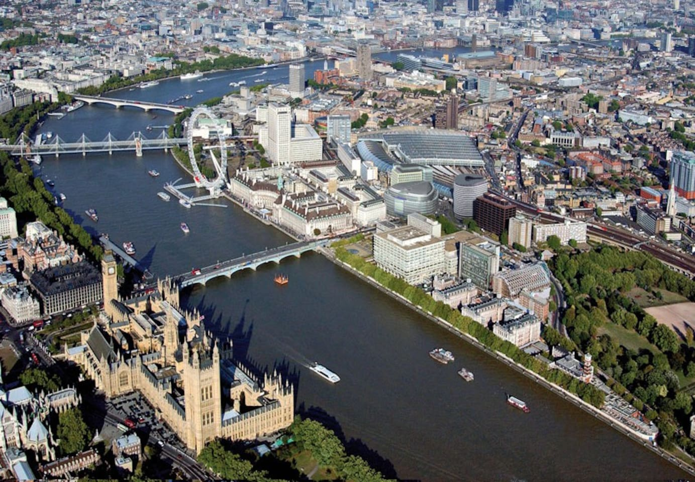 Big Ben, London Eye and the Houses of Parliament at your door step