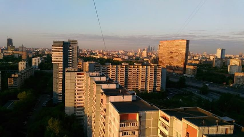Потрясающий вид на Москву + уютная комната - Moskva - Byt