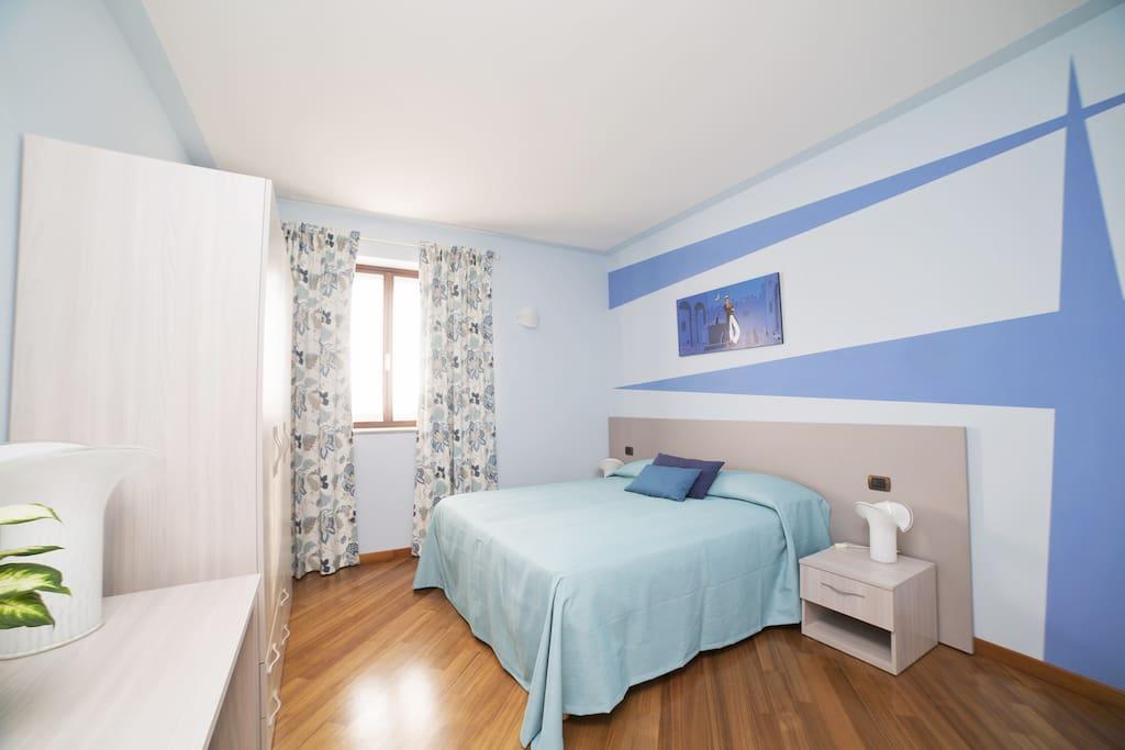 Camera blu, il colore della calma e della pace