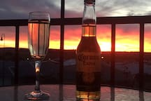 Enjoy a wine or beer watching the amazing Sunsets. So very tranquil.