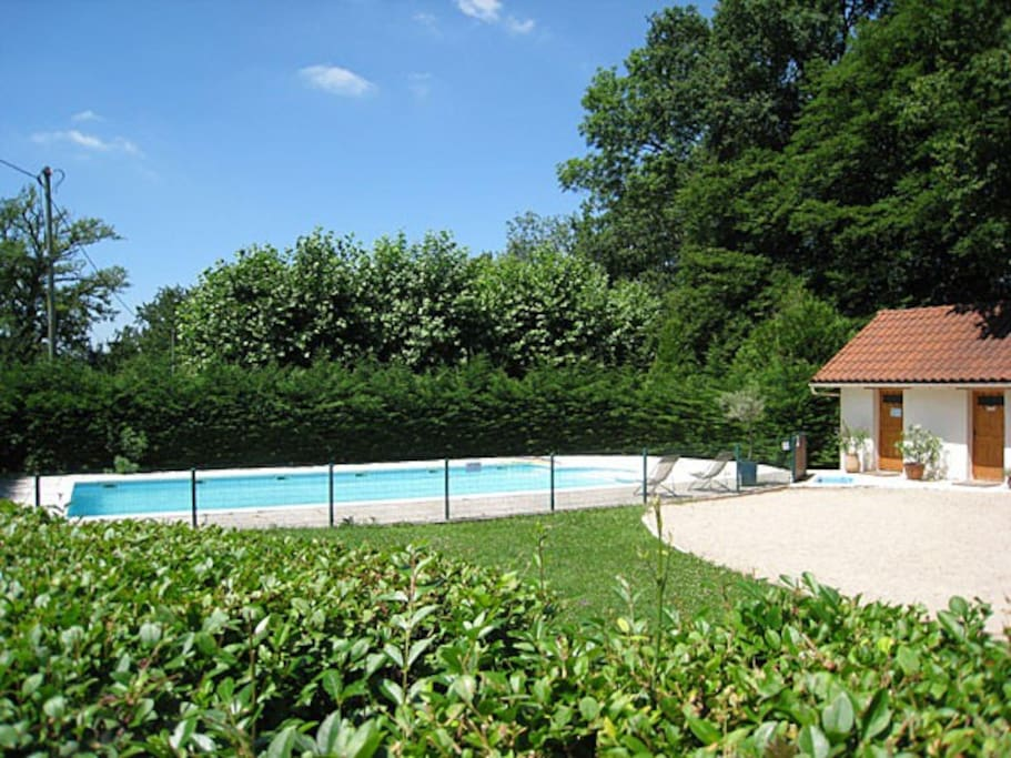 Piscine avec pool house