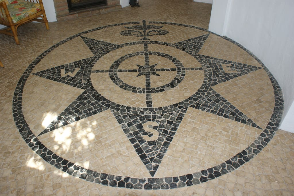 Entrance hall mosaic - compass rose
