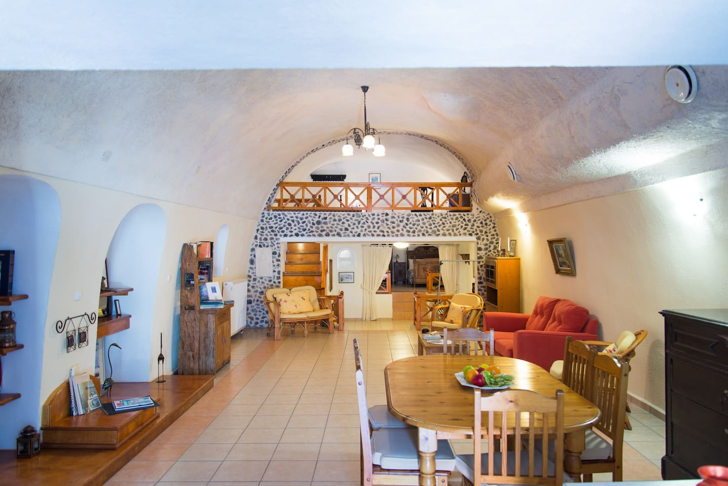 Living Area and Dining Room