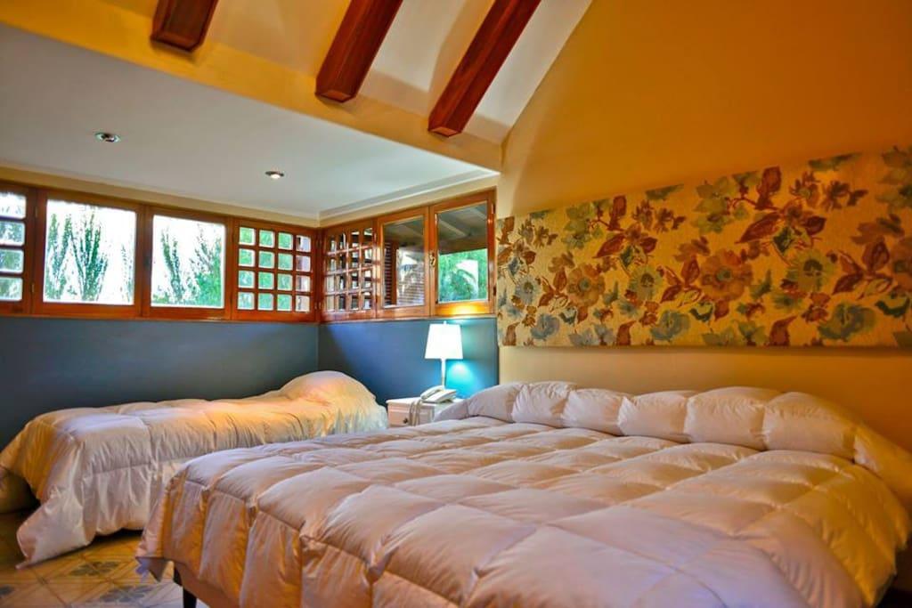Amplias y luminosas habitaciones