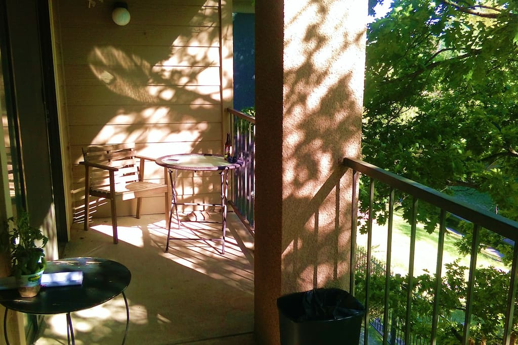 Balcony where I started to grow vegetables :-) Enjoying amazing sunset view with a glass of wine....feel free like a bird!