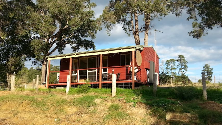 Red cabin at Riverbend Nannup