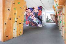 Rock climbing facility