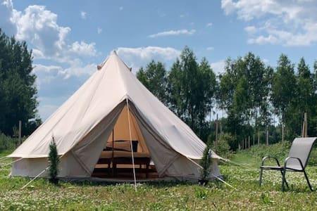 Idülliline Glamping kaunis Lõuna-Eesti talus.