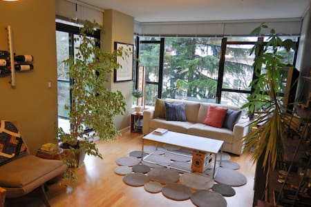 Rustic & Modern 1BR/2BA Condo in the Royal City - New Westminster