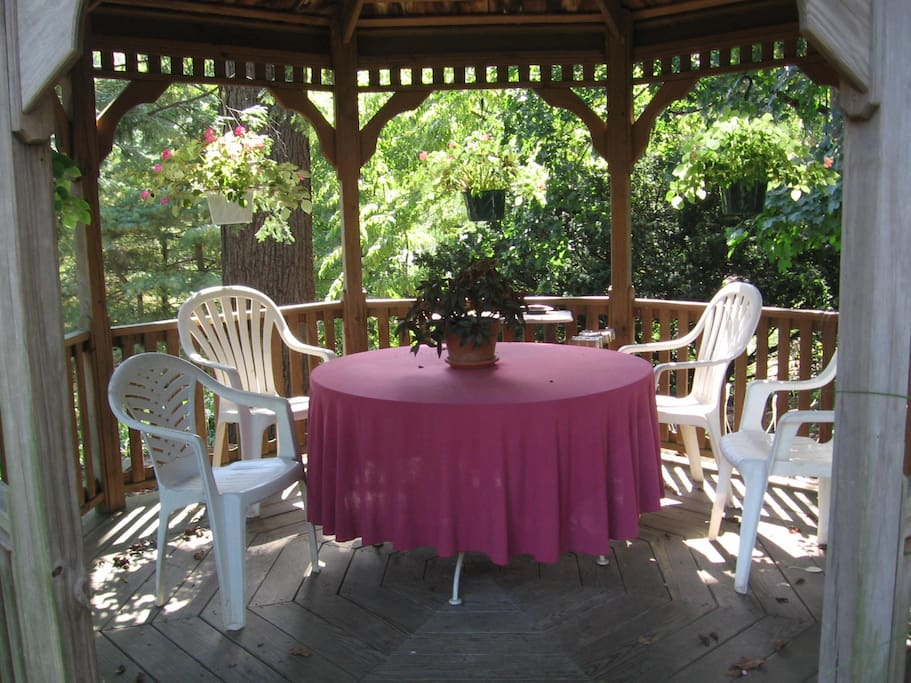 The beautiful grounds include this Gazebo which you can view off your second floor porch.