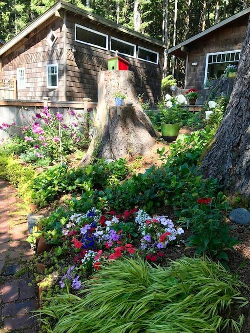 Studio on left from front garden