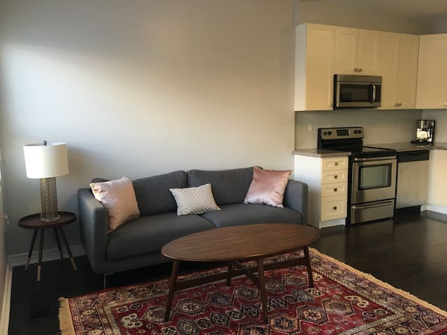 2 Bed Renovated Pape Subway ,Downtown , 1 parking