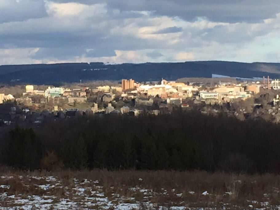 View of Cornell from our road
