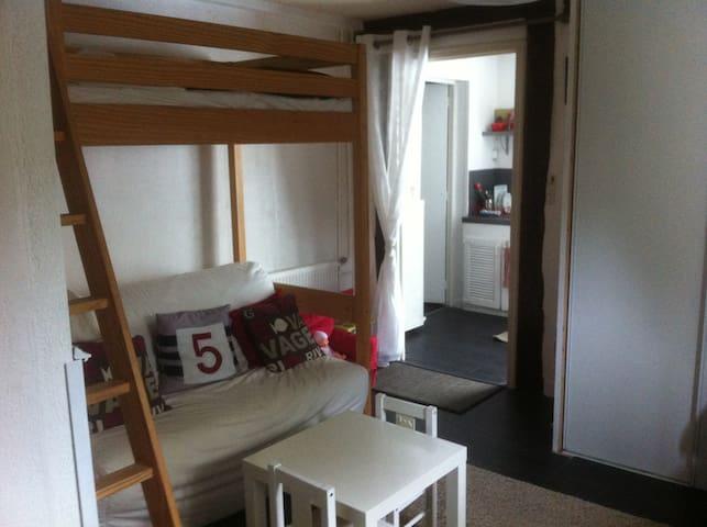 Studio 3 couchages en RDC dans maison familiale - Conflans-Sainte-Honorine - Appartement