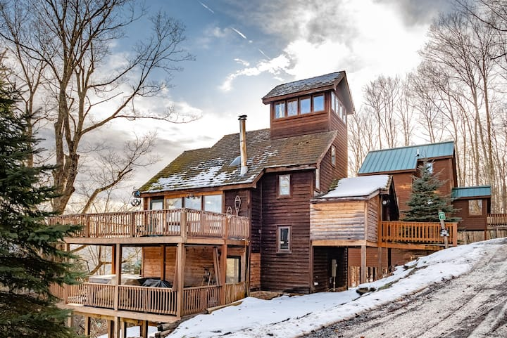 Heaven`s View - Beautiful Winter Views, Hot Tub, Wood Fireplace