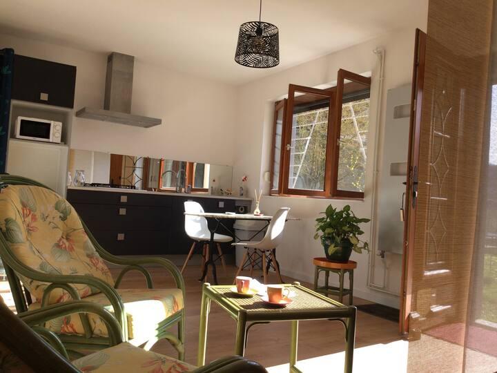 Studio accès grand jardin aux portes de Nancy