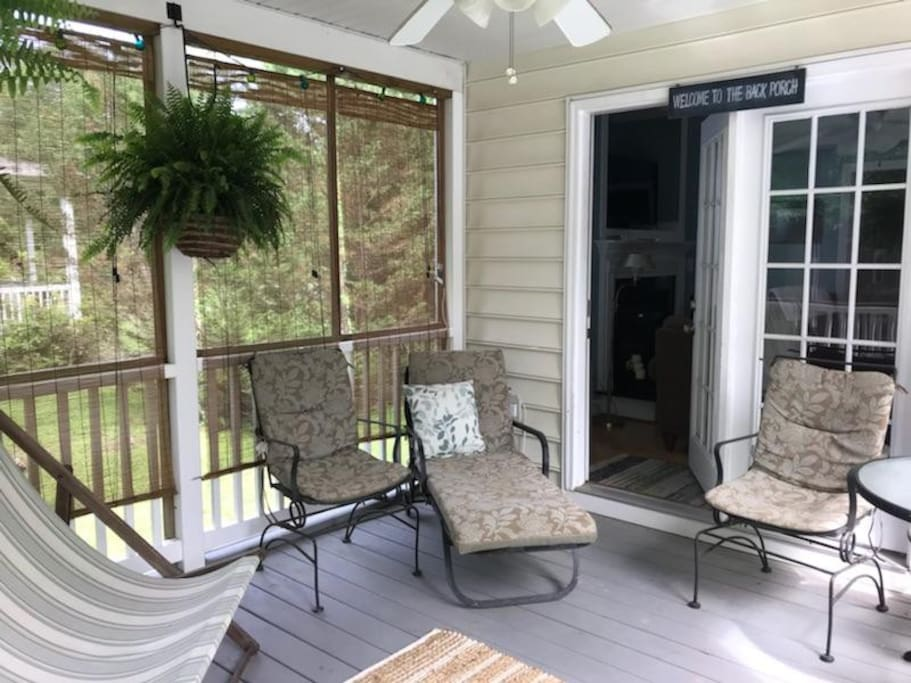 Peaceful screened porch
