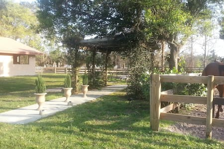 horse farm:  room/studio with separate entrance - Loxahatchee