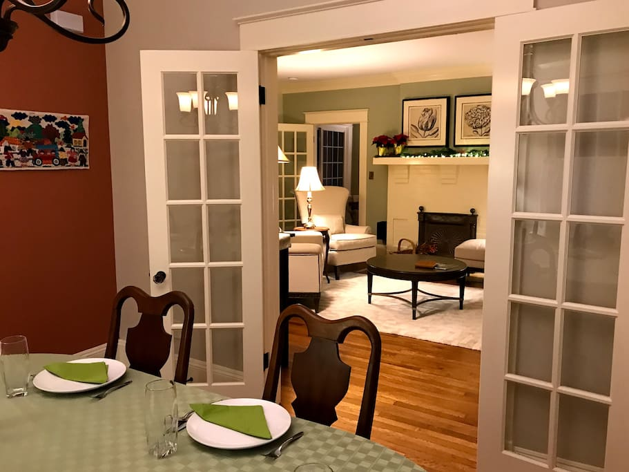 Dining Room open to the Kitchen and Living Room.