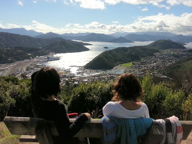 Stunning view over Picton from local walking track.