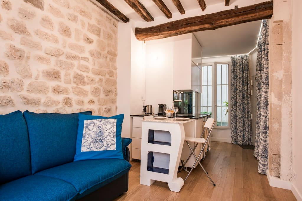 Studio 20m2 Ile Saint Louis - historical center - Apartments for ...