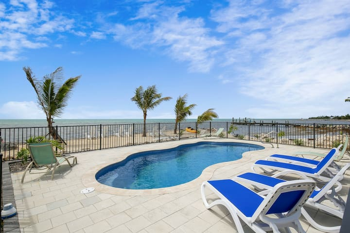 Breezy oceanfront home w/ private pool, private grill, & kayaks and SUP boards!