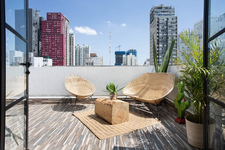 Loft with private terrace @ Nuevo Polanco