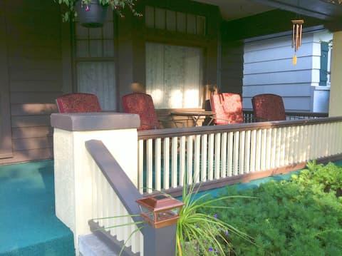 3BR Prairie Foursquare Home w/ porch, keypad entry