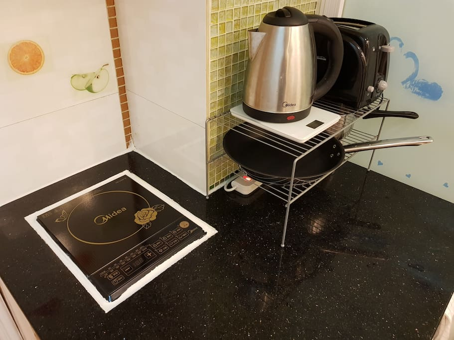 Cooking area - Induction cooker, Kettle, Toaster included
