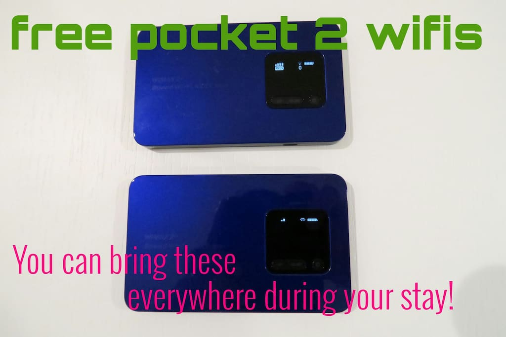 unlimited free portable wifi ★You can bring it out everywhere during your stay!!★