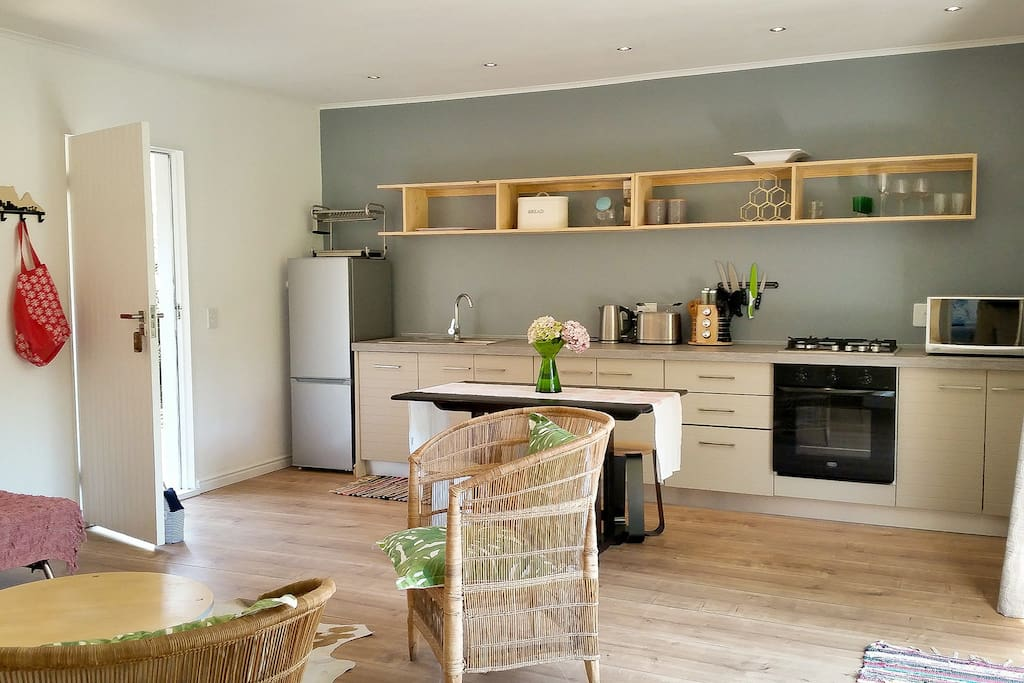 The kitchen is well equipped for all your cooking needs.