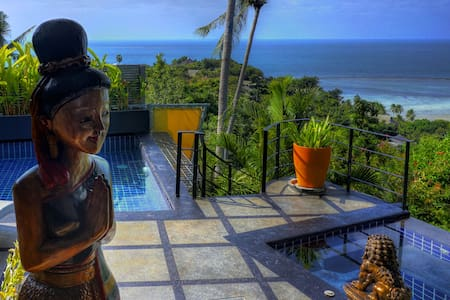 Ocean view Villa with Pool, Jacuzzi, FREE CAR