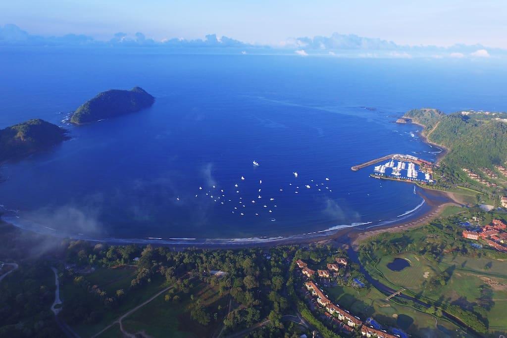 Aerial picture of Los Sueños resort