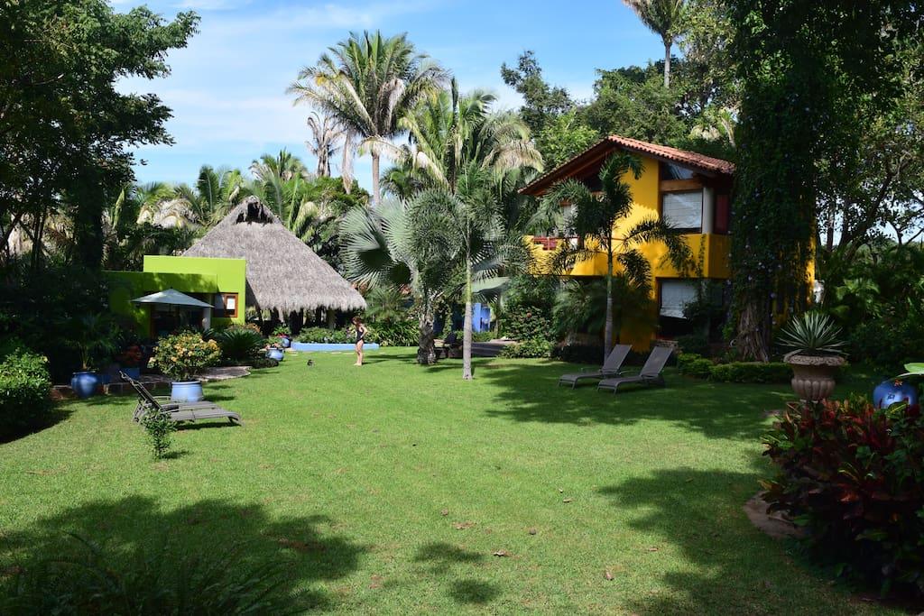 Casa Juanita gardens and lawn.