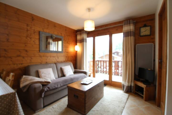 3 bedroom 6people : cosy with spa & free ski bus