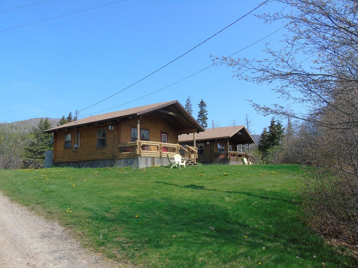cajun cedar log cottages double 2 cabins for rent in margaree rh airbnb com cajun cedar log cottages cape breton cajun cedar log cottages margaree forks ns