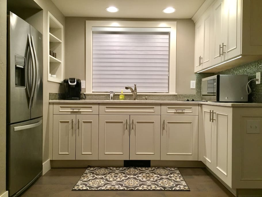 Updated kitchen with everything you'll need to enjoy your stay