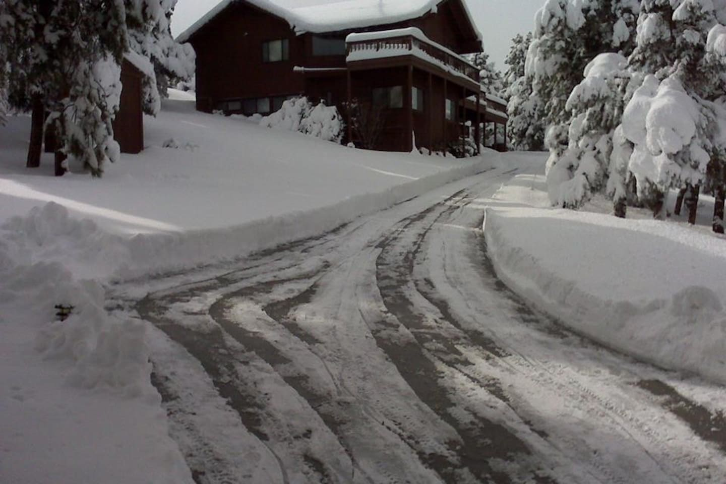 Our driveway in the Winter